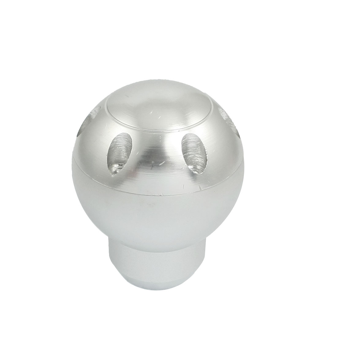 Silver Tone Round Head Gear Shift Knob Handle for Auto Car