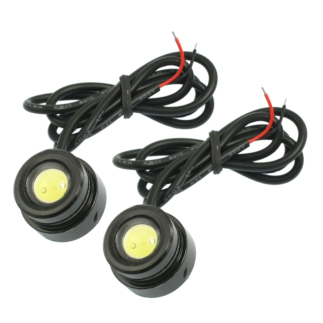Pair Car Auto White LED Daytime Running Light Lamp DC 12-14.5V