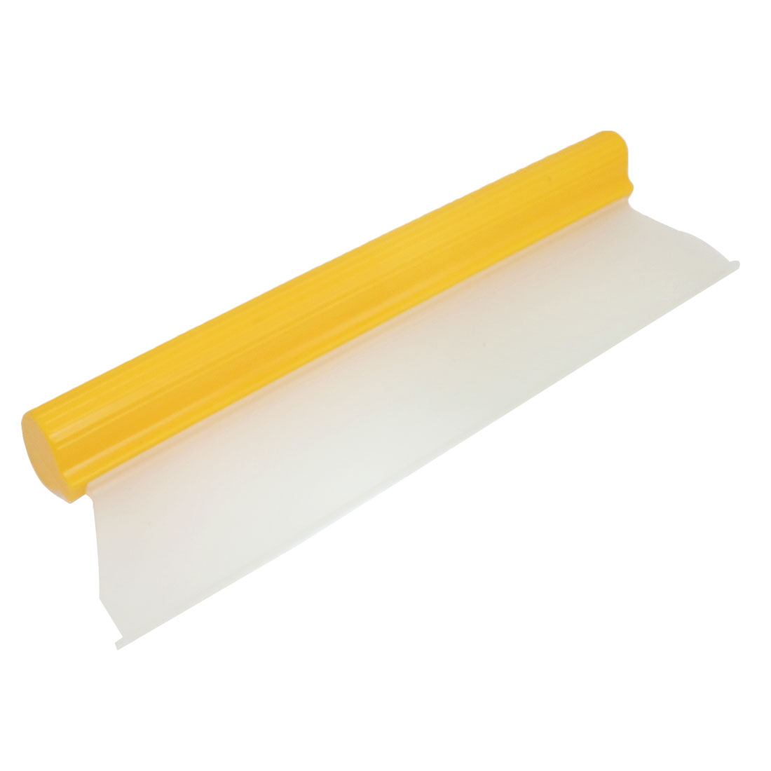 "Yellow Clear 14"" Silicone Blade Car Window Film Scraper Cleaner Tool"