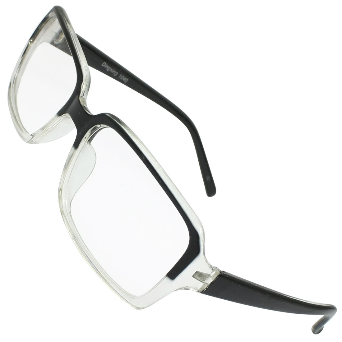 Plastic Black Clear Arms Rim Clear Lens Glasses Spectacles for Lady Men