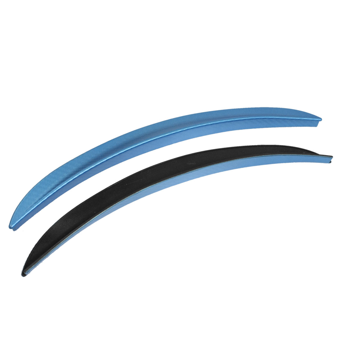 2 Pcs Aqua Blue Carbon Fiber Car Decorative Wheel Strip Eyebrow Sticker