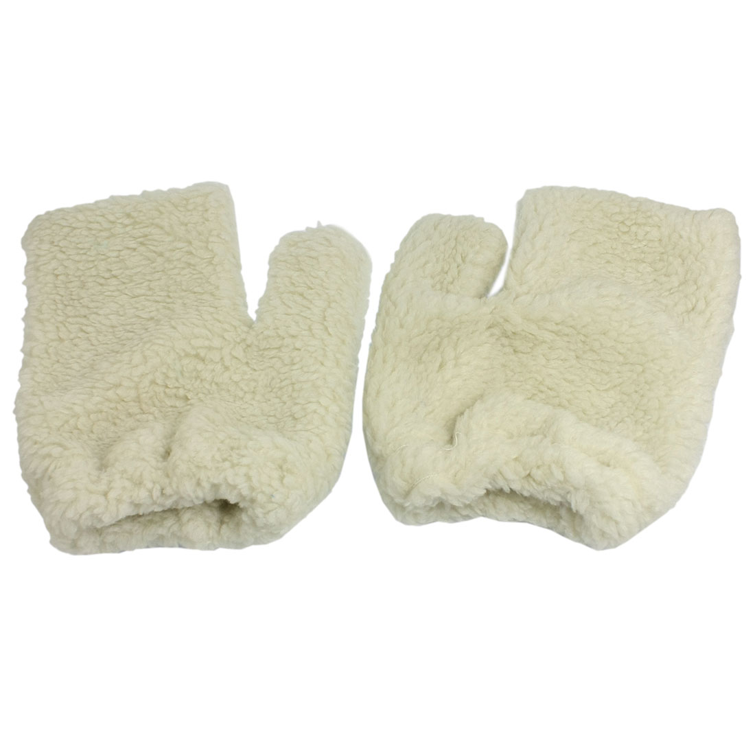 White Plush Hand Shape Car Auto Washing Cleaning Mitt Glove