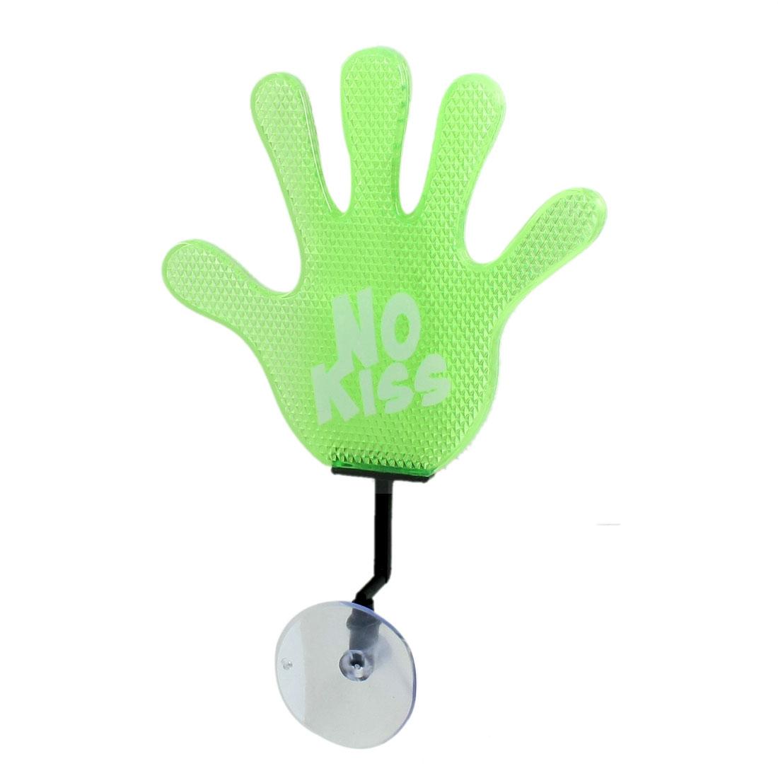 Car Green White No Kiss Warning Hand Palm Shape 3D Reflective Sticker