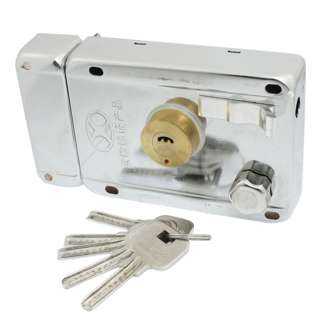 Door Security Dead Bolt Deadlock Rim Lock Replacement w 5 Keys