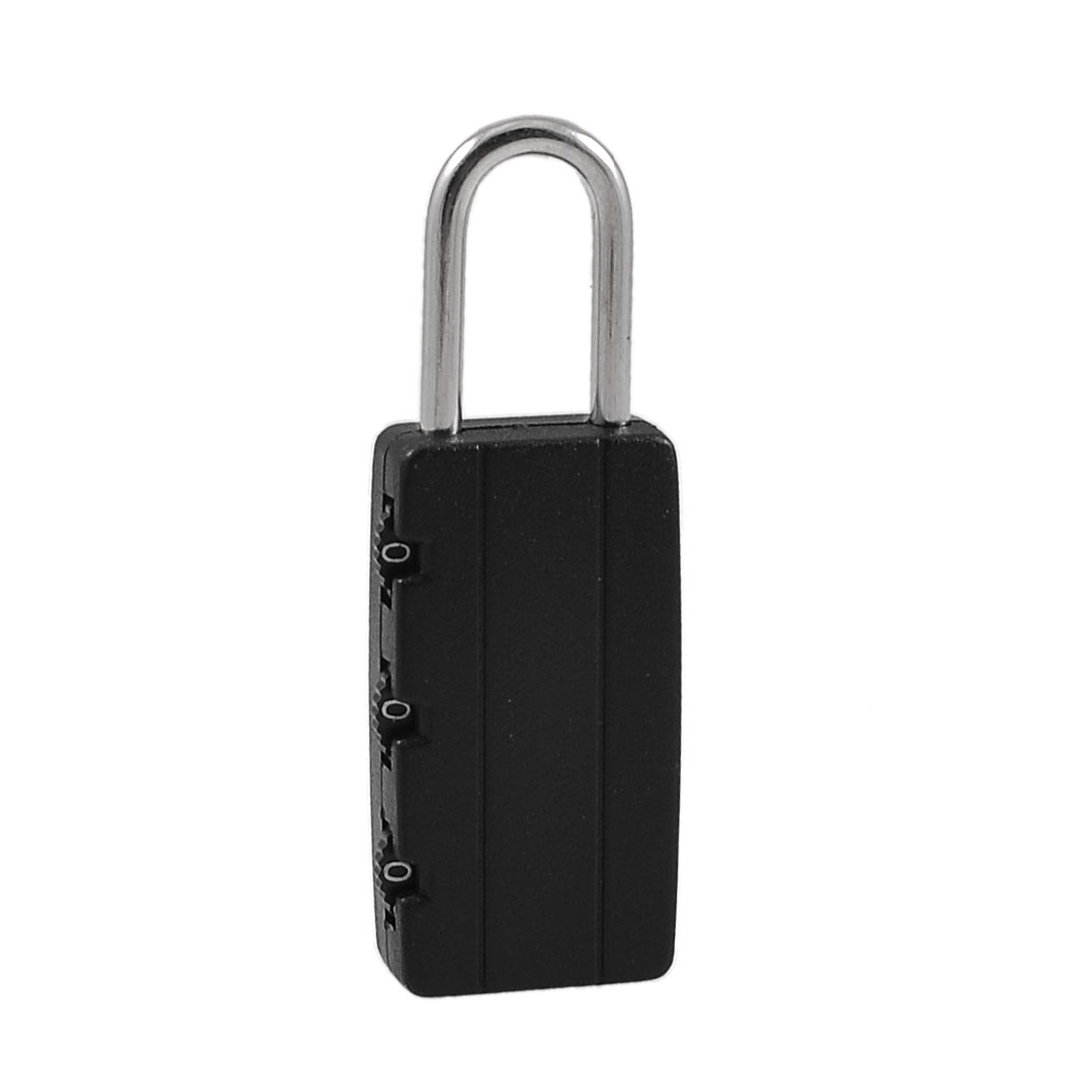 Travel 3 Dial Resettable Lock Luggage Suitcase Combination Padlock