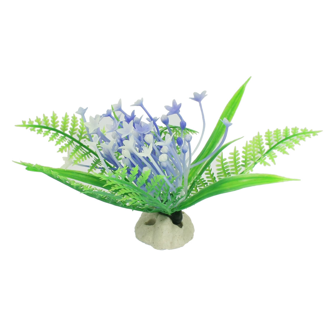 Plastic Plant Flower Aquarium Aquascaping Fish Tank Ornament Green Blue