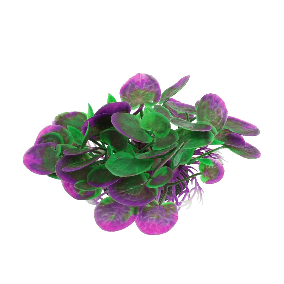 Aquarium Plastic Plant Aquascaping Fish Tank Ornament Green Purple