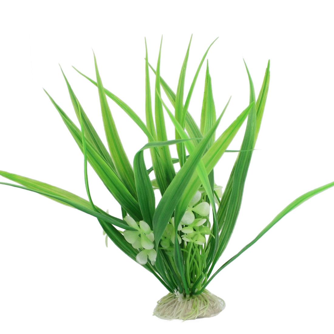"""White Flower Aquatic Plastic Plant Aquarium Ornament Aquascaping 8.7"""""""