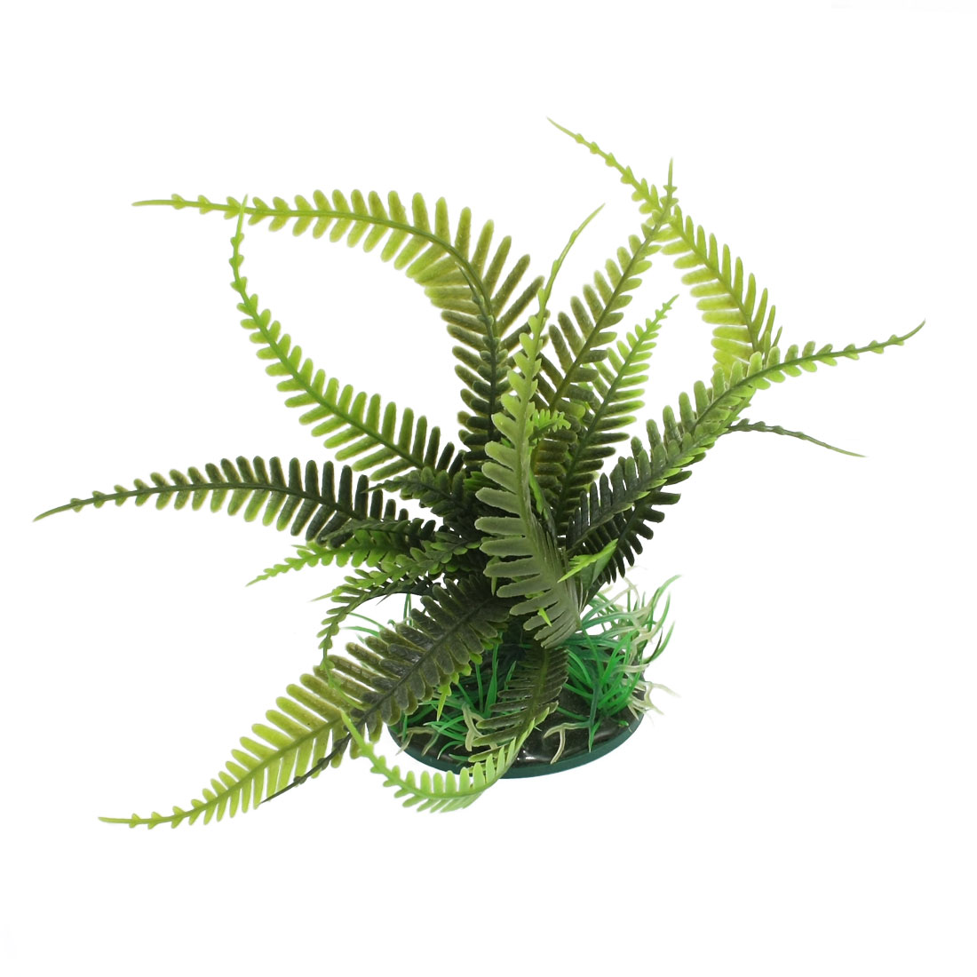Artificial Aquarium Plastic Plant Decoration Ornament Olive Green 6.7""