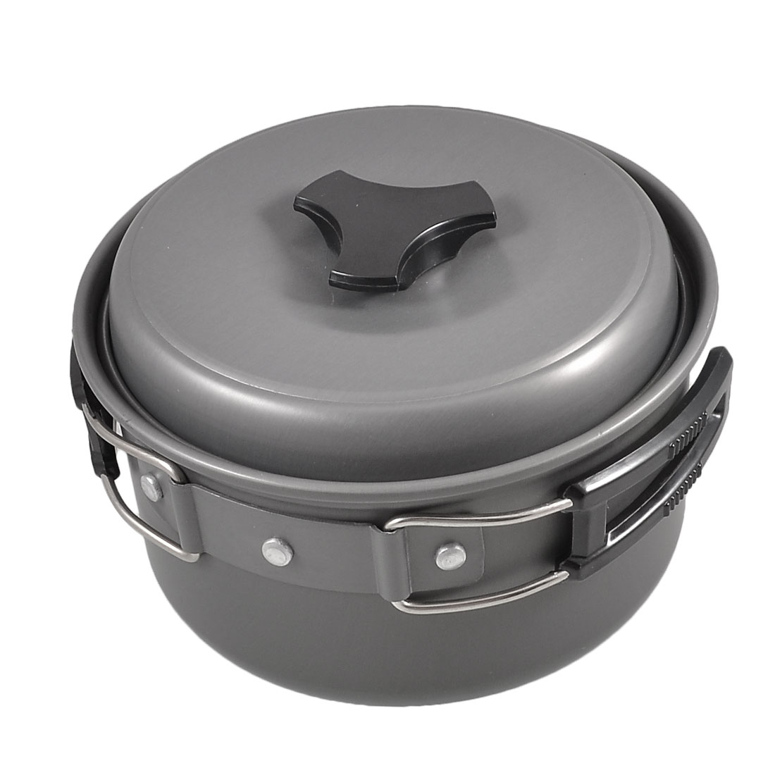 Foldable Plastic Coated Metal Handle Soup Porridge Cooking Pot 986ml