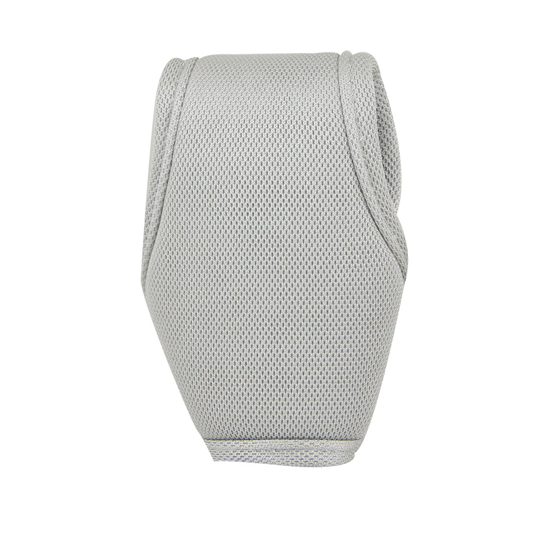 Car Auto Antislip Dots Decor Grey Sponge Nylon Hook Loop Closure Shift Knob Boot Cover