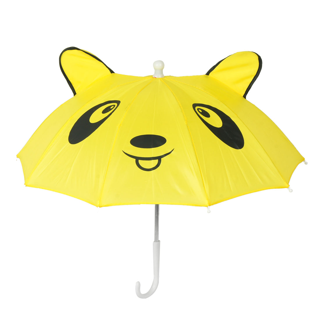 Children Panda Pattern Mini Yellow Umbrella Playing Toy