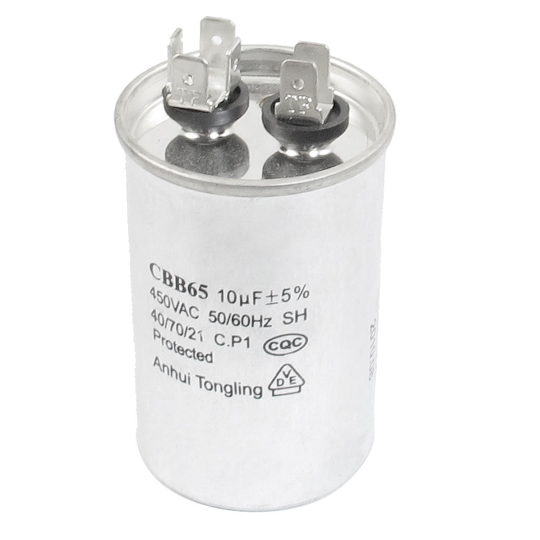 CBB65 10uF 450VAC Polypropylene Film Air Conditioning Motor Run Capacitor