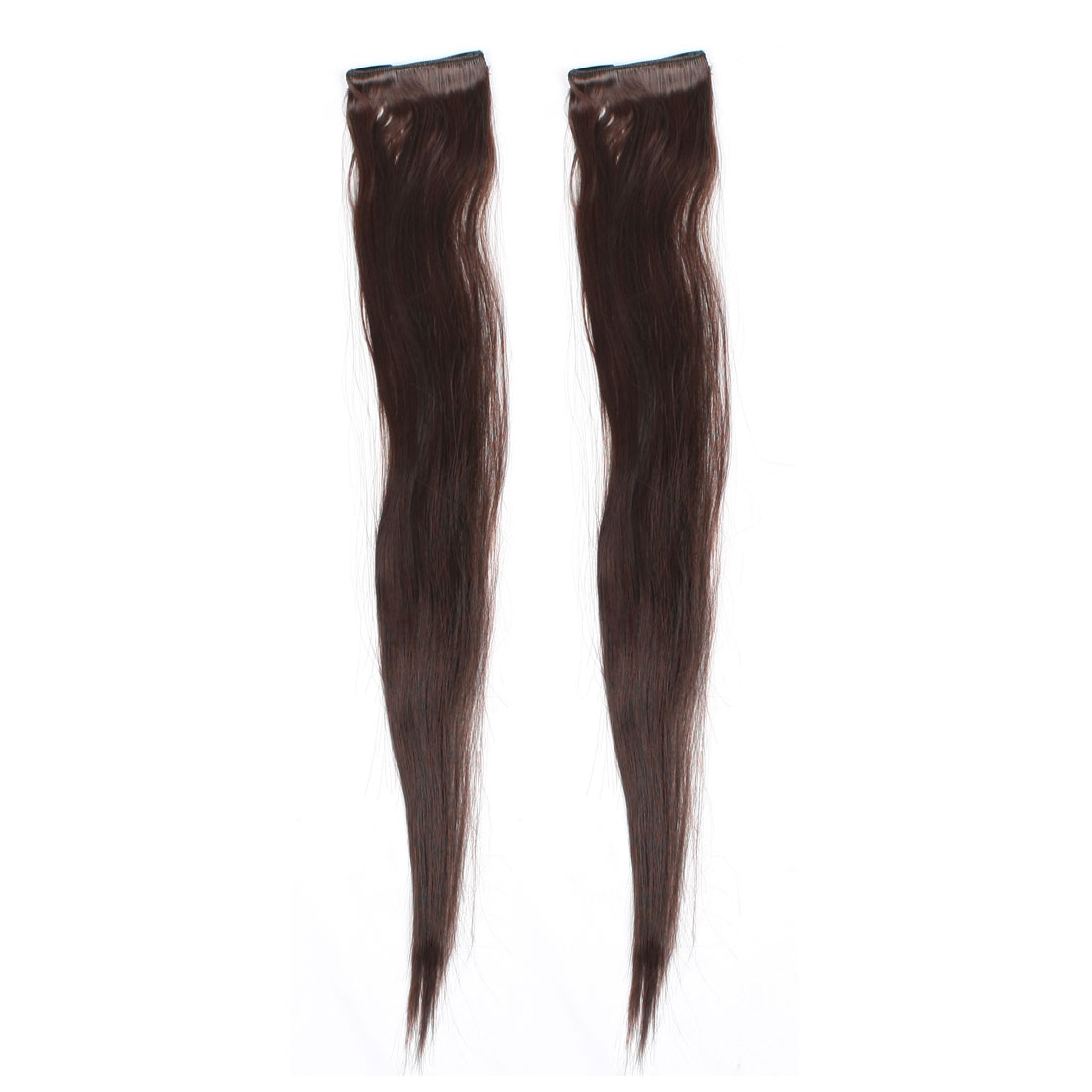 "Women Chestnut Colour Long Straight Ponytail Hairpiece 30"" 2 Pcs"