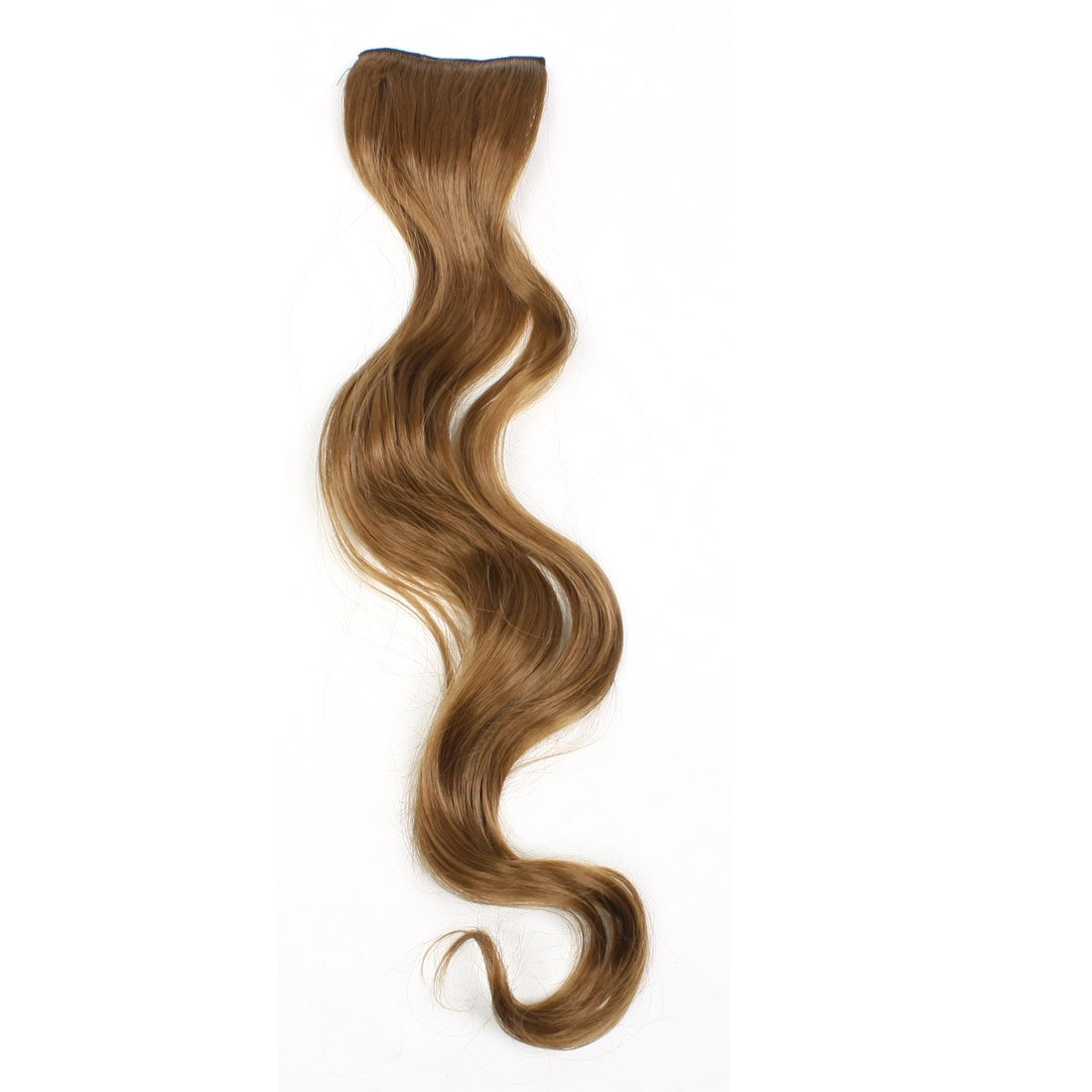 "Women Brown Long Curl Wave Ponytail Hairpiece 22"" 2 Pieces"