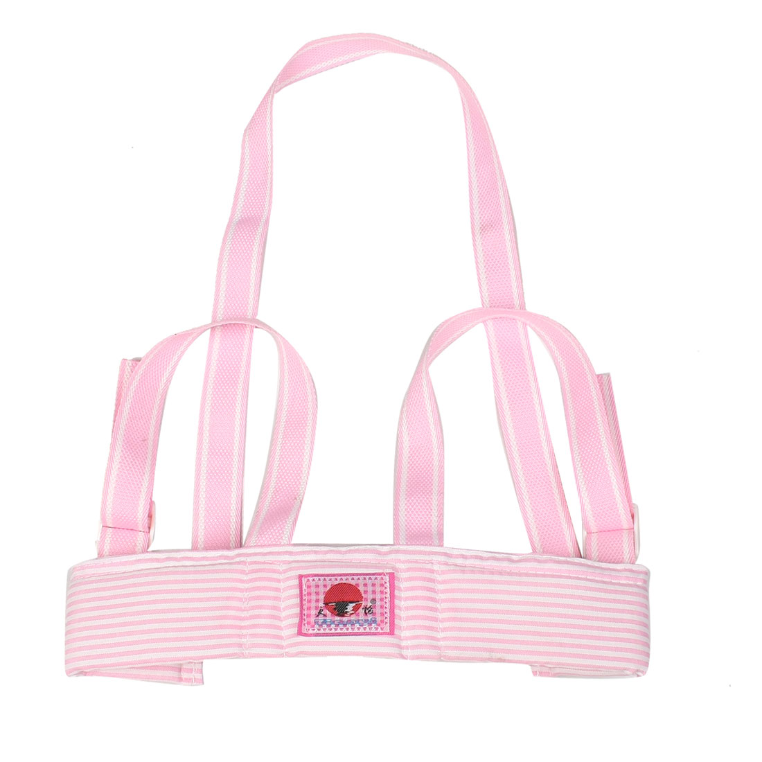 Pink White Stripe Kid Toddler Walking Walker Safety Harness Padded Vest Keeper Strap