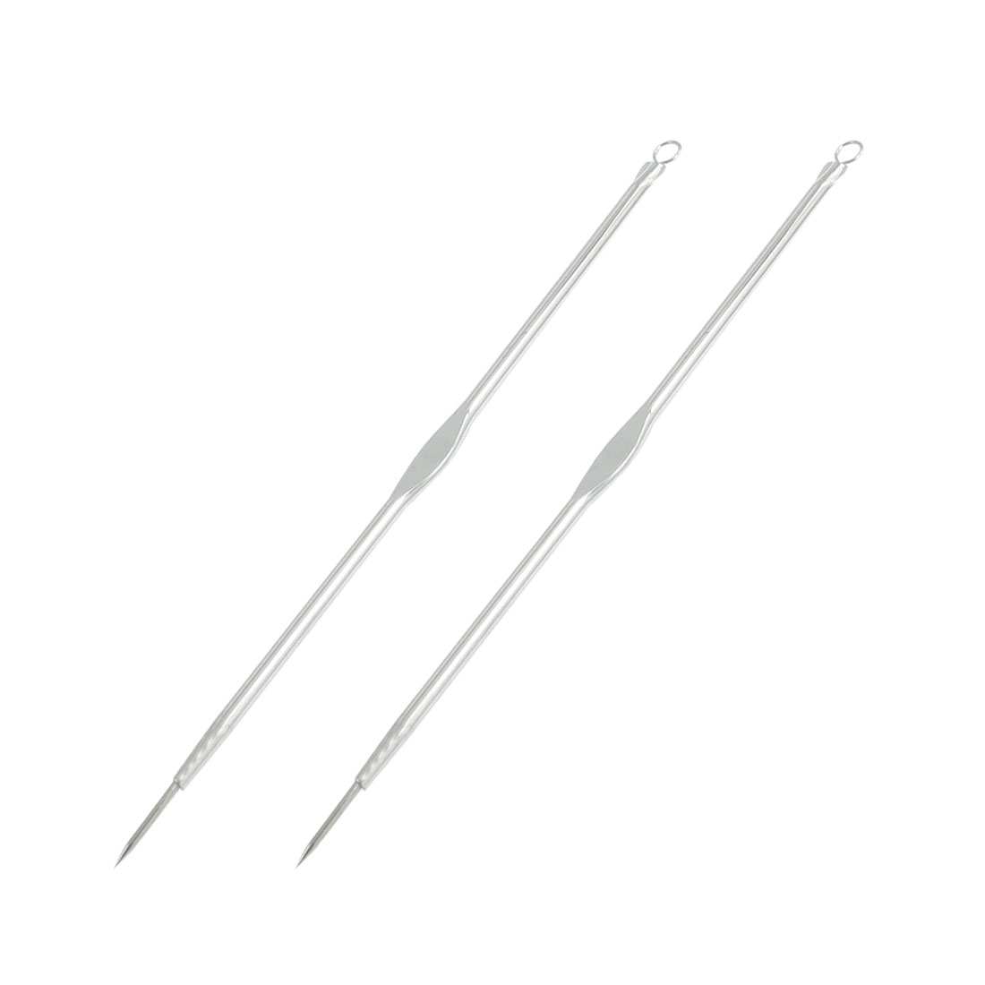"Face Beauty Tool Blackhead Extractor Acne Remover Needle 4.7"" 2 Pcs"