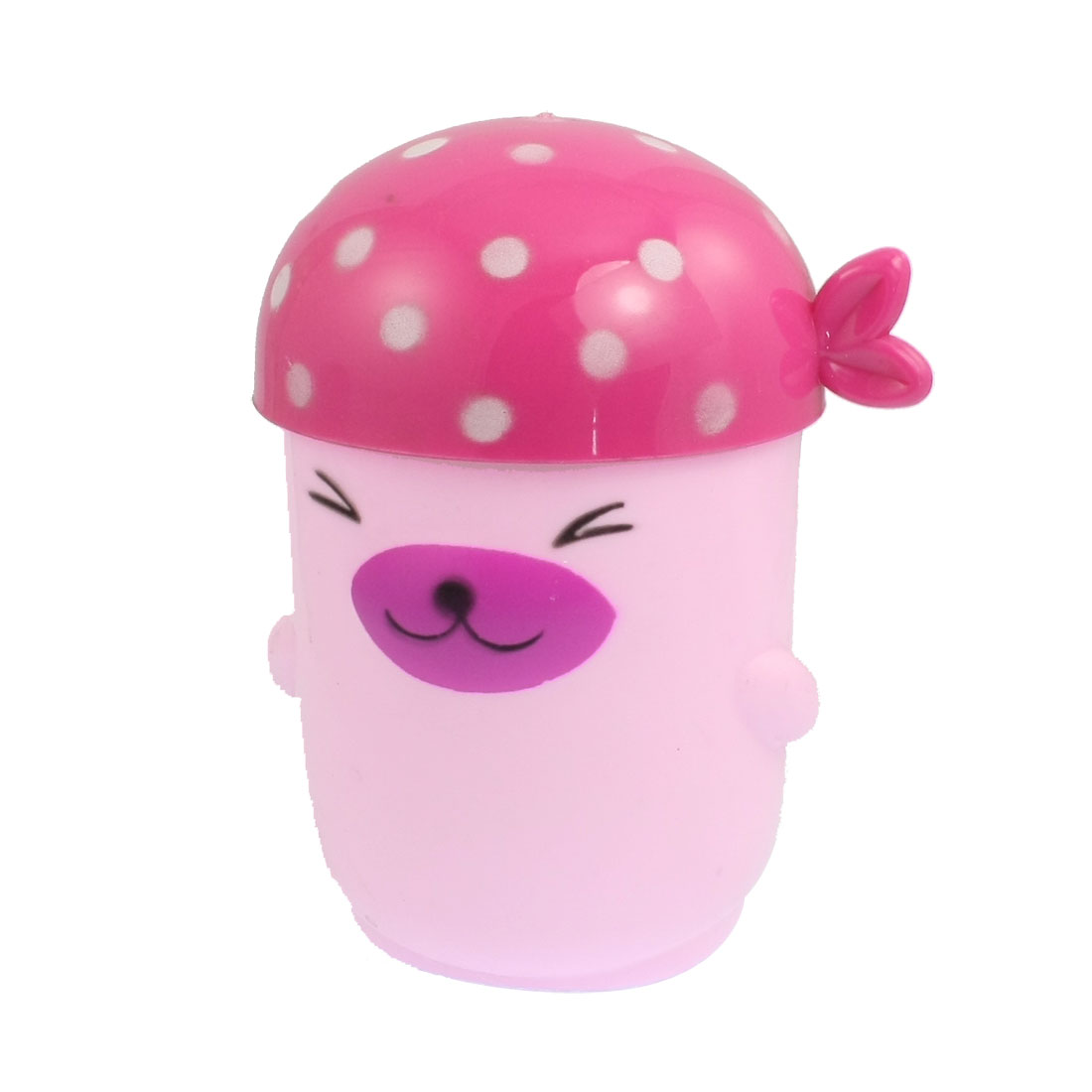 Cartoon Dog Style Plastic Drink Mug Cup Pink for Children