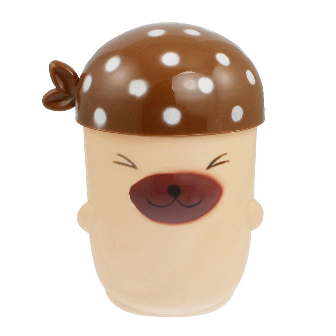 Drink Cartoon Dog Design Plastic Cup Ivory for Children