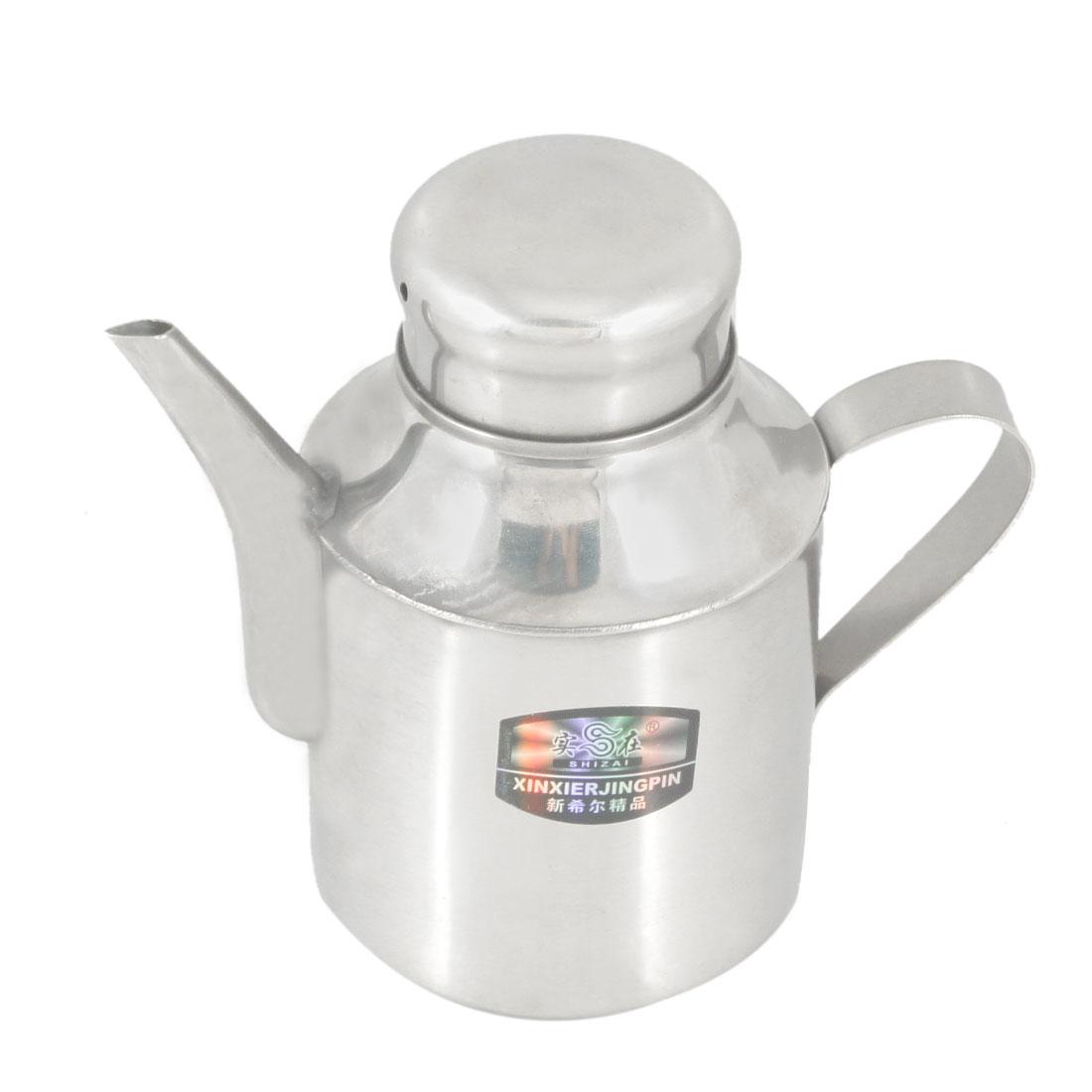 110Z Capacity Pitcher Shape Tea Pot Kettle Teakettle Silver Tone
