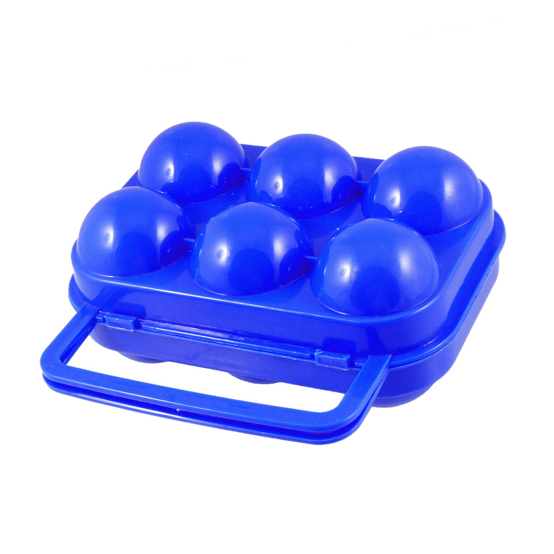 Blue Outdoor Picnic Foldable Plastic Egg Tray Storage Case Box
