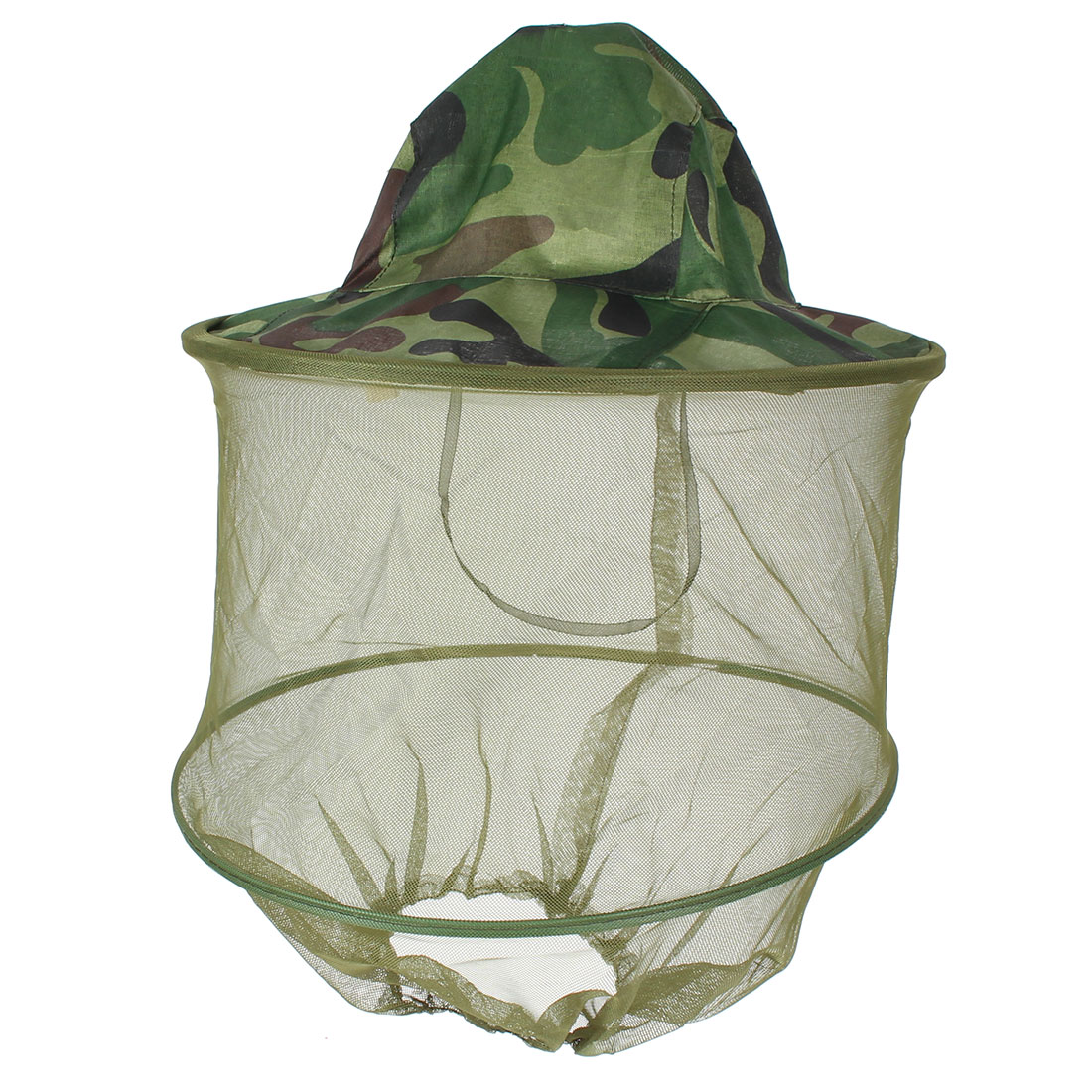 Fishing Camouflage Cap Mesh Net Hood Sun Nylon Hat Army Green