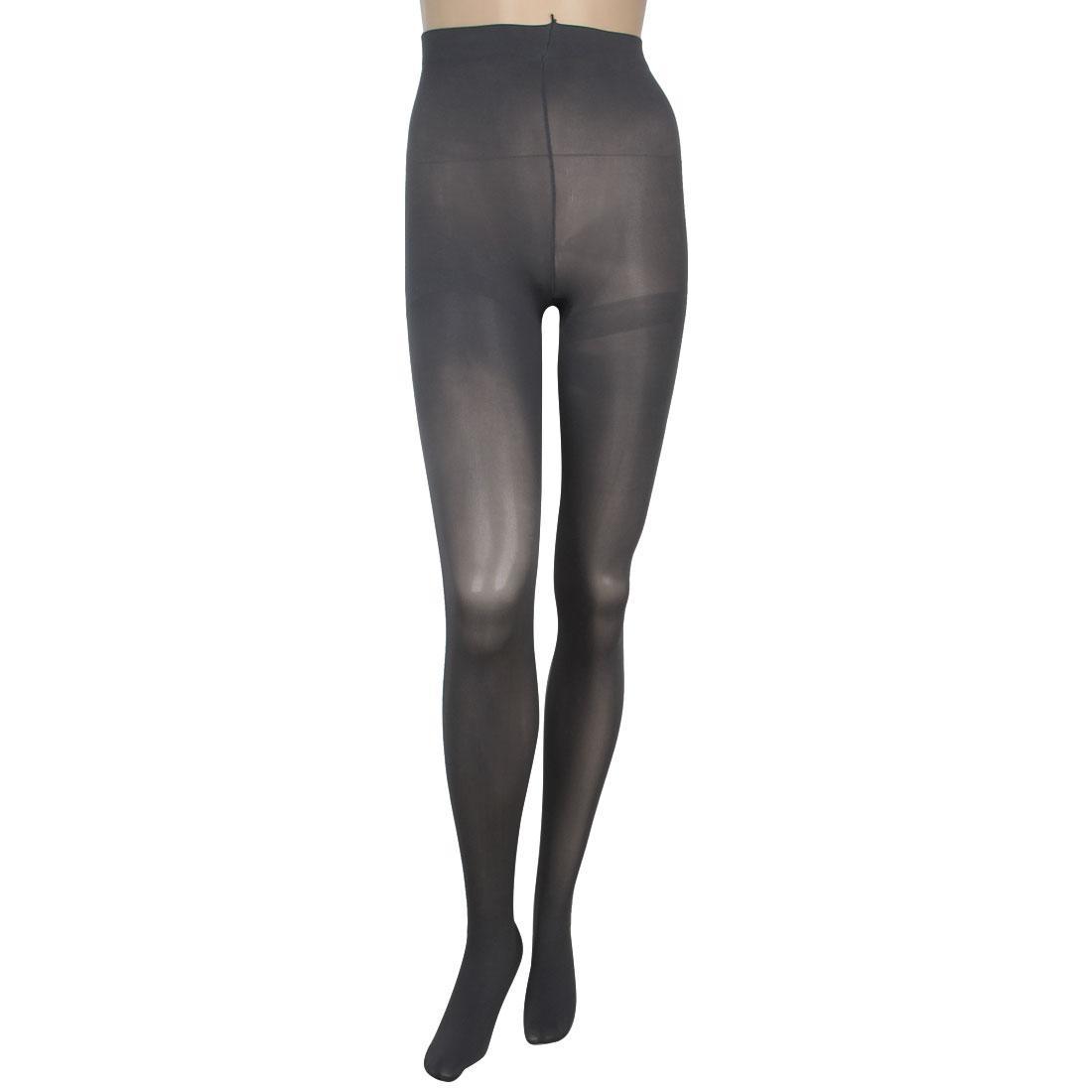 Dark Gray Thicken Formfitting Tights Leggings Pantyhose for Women XS