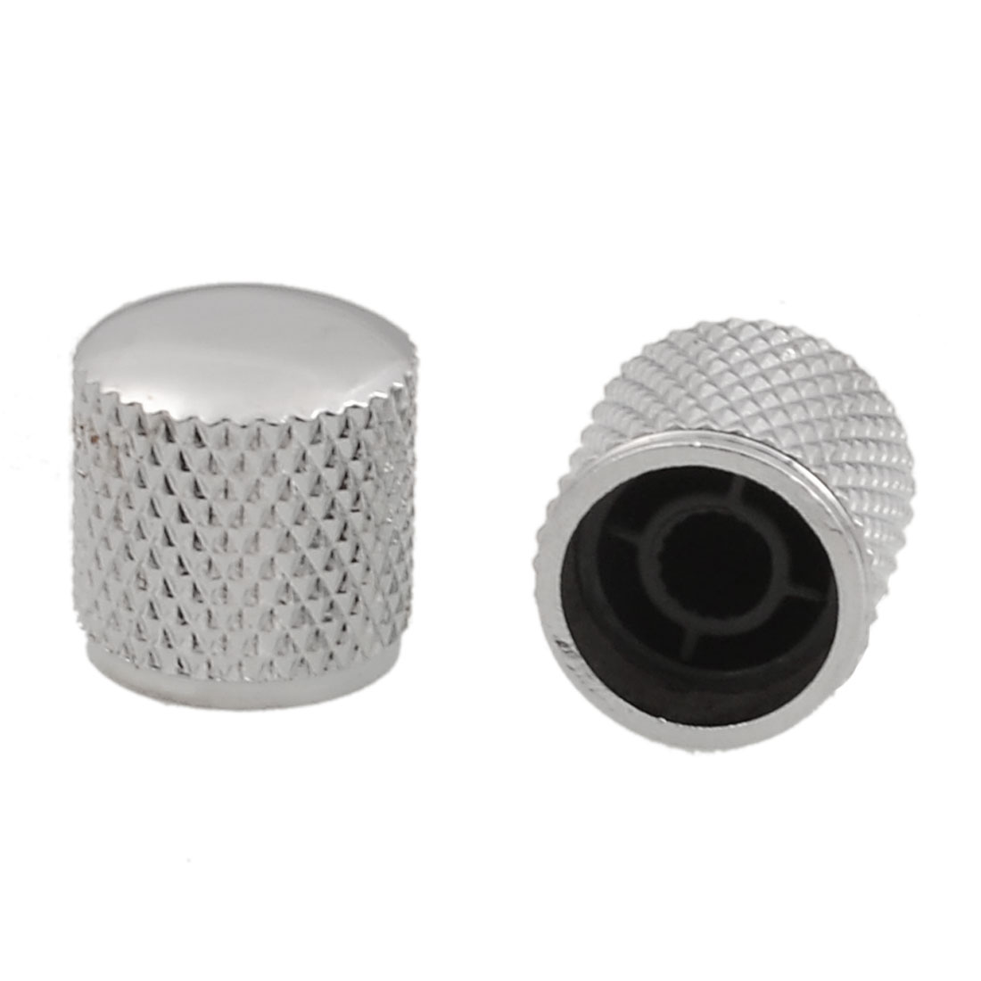 Stainless Steel Electric Guitar Volume Tone Control Knob Top Hat 2 Pcs