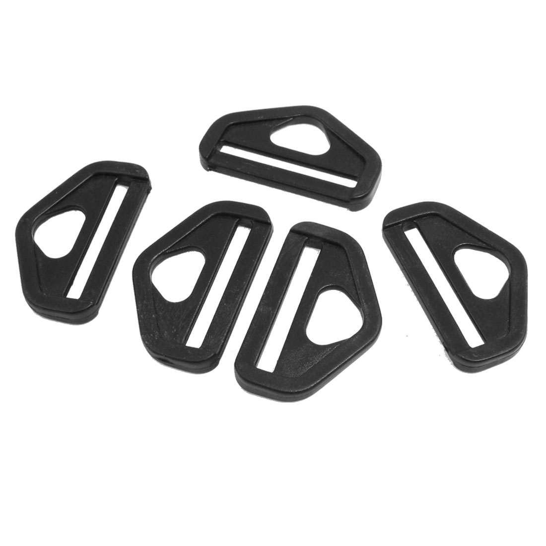 "1.5"" Spare Parts Black Plastic D Ring Buckle for Backpack Bag 5 Pcs"