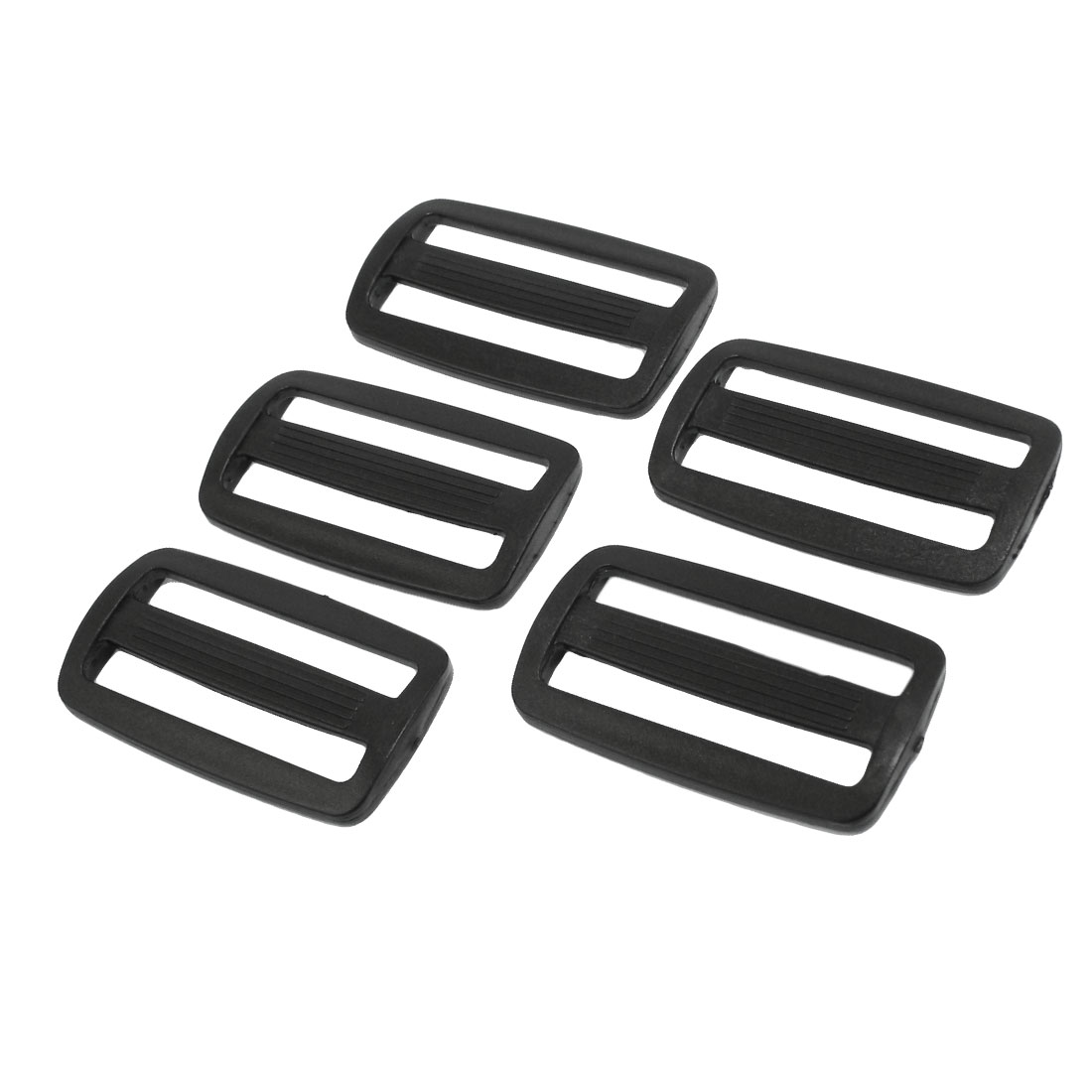 "Luggage Bag Repair Parts Plastic 2"" Side Rectangle Buckle 5 Pcs"