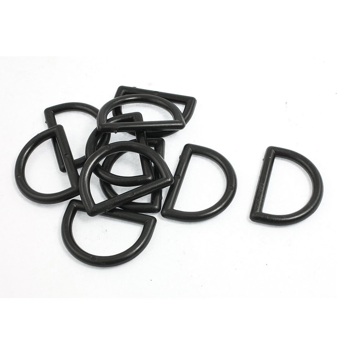 "1"" Repair Parts Black Plastic D Ring Buckle for Backpack Bag 10 Pcs"