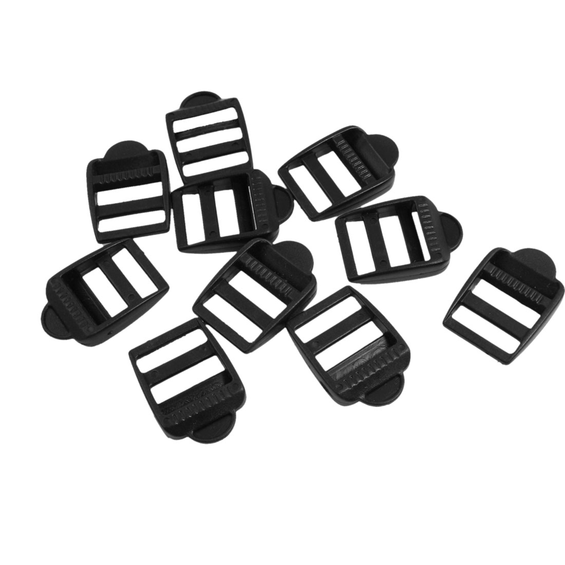 "10 x Plastic Black Luggage Bag Side Buckles for 25/32"" Width Strap"