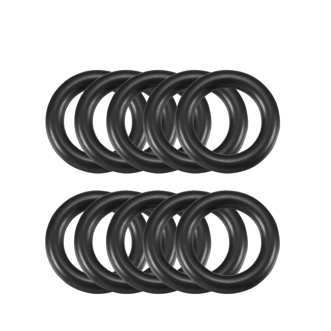 4mm x 22mm Black Nitrile Rubber Sealing O Ring Seal Washer Grommets 10 Pcs