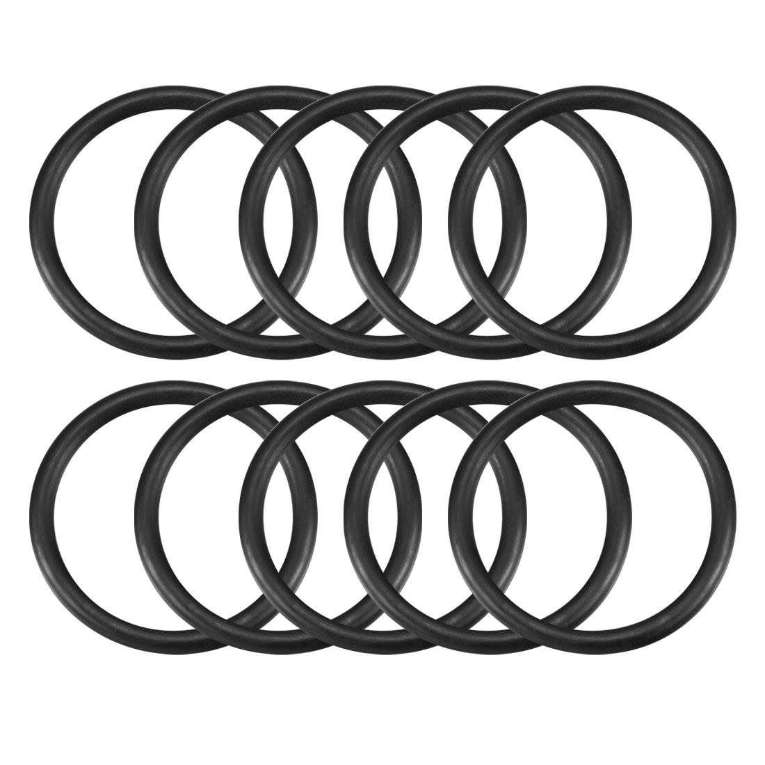 5mm x 55mm Black Nitrile Rubber Shielding O Ring Seal Washer Grommets 10 Pcs