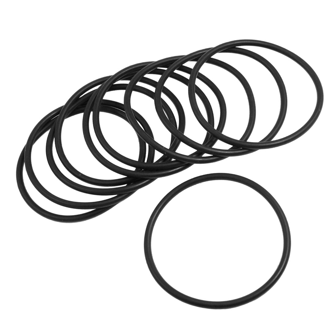 4mm x 78mm Black Nitrile Rubber Sealing O Ring Seal Washer Grommets 10 Pcs