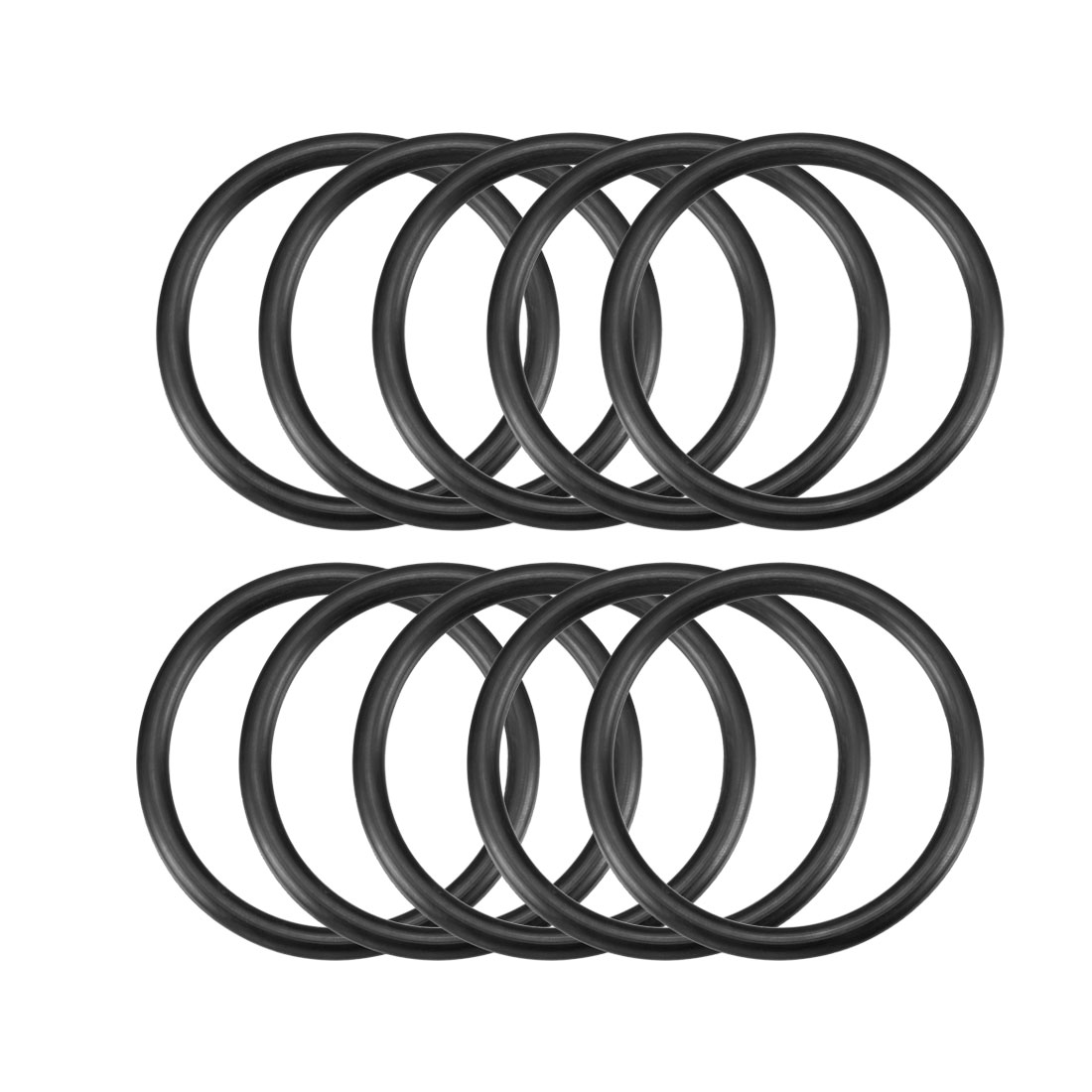 5mm x 62mm Black Nitrile Rubber Sealing O Ring Seal Washer Grommets 10 Pcs