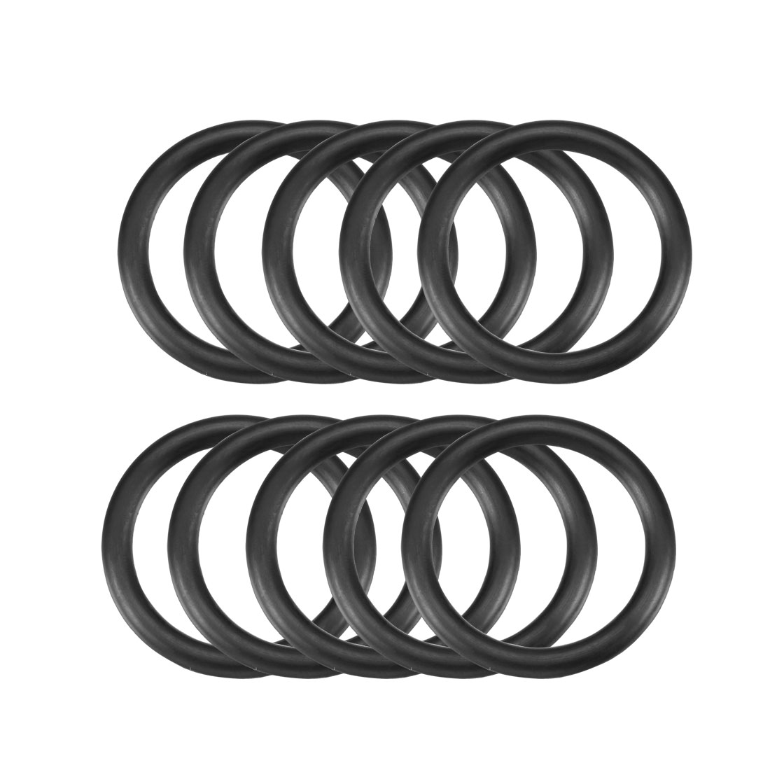 5mm x 44mm Nitrile Rubber O Type Sealing Ring Gasket Grommets Black 10Pcs