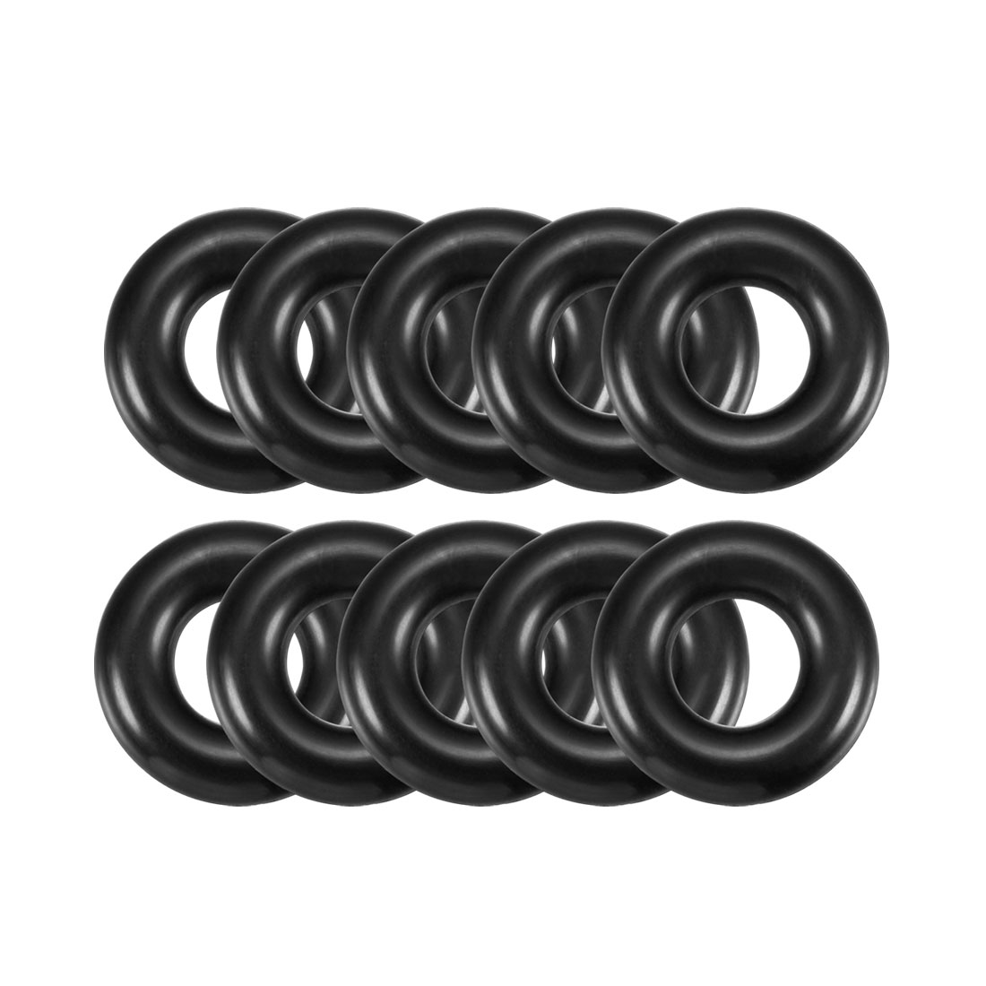 5mm x 18mm Black Nitrile Rubber Sealing O Ring Seal Washer Grommets 10 Pcs