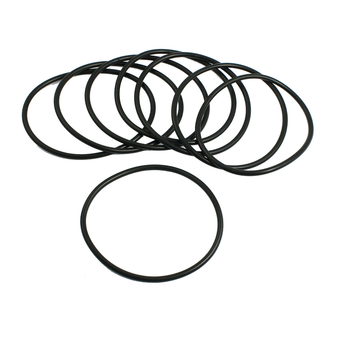 3.1mm x 72mm Nitrile Rubber O Type Sealing Ring Gasket Grommets Black 10Pcs