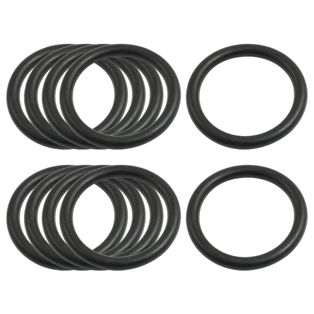 10 Pcs Oil Seal O Rings Black Nitrile Rubber 36mm OD 4mm Thickness