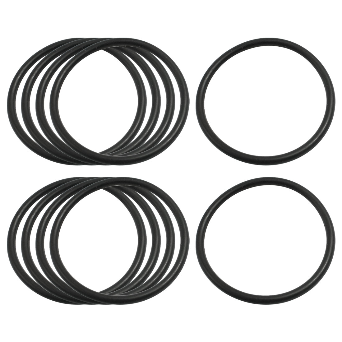 2.4mm x 41mm Nitrile Rubber O Type Sealing Ring Gasket Grommets Black 10Pcs