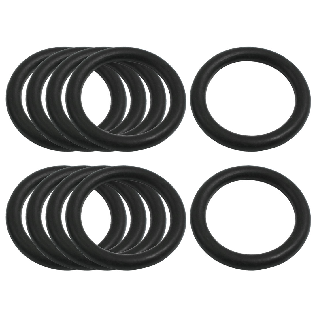 5mm x 38mm Nitrile Rubber O Type Sealing Ring Gasket Grommets Black 10Pcs
