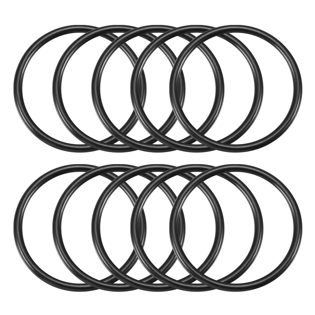 3.1mm x 45mm Black Nitrile Rubber Sealing O Ring Seal Washer Grommets 10 Pcs