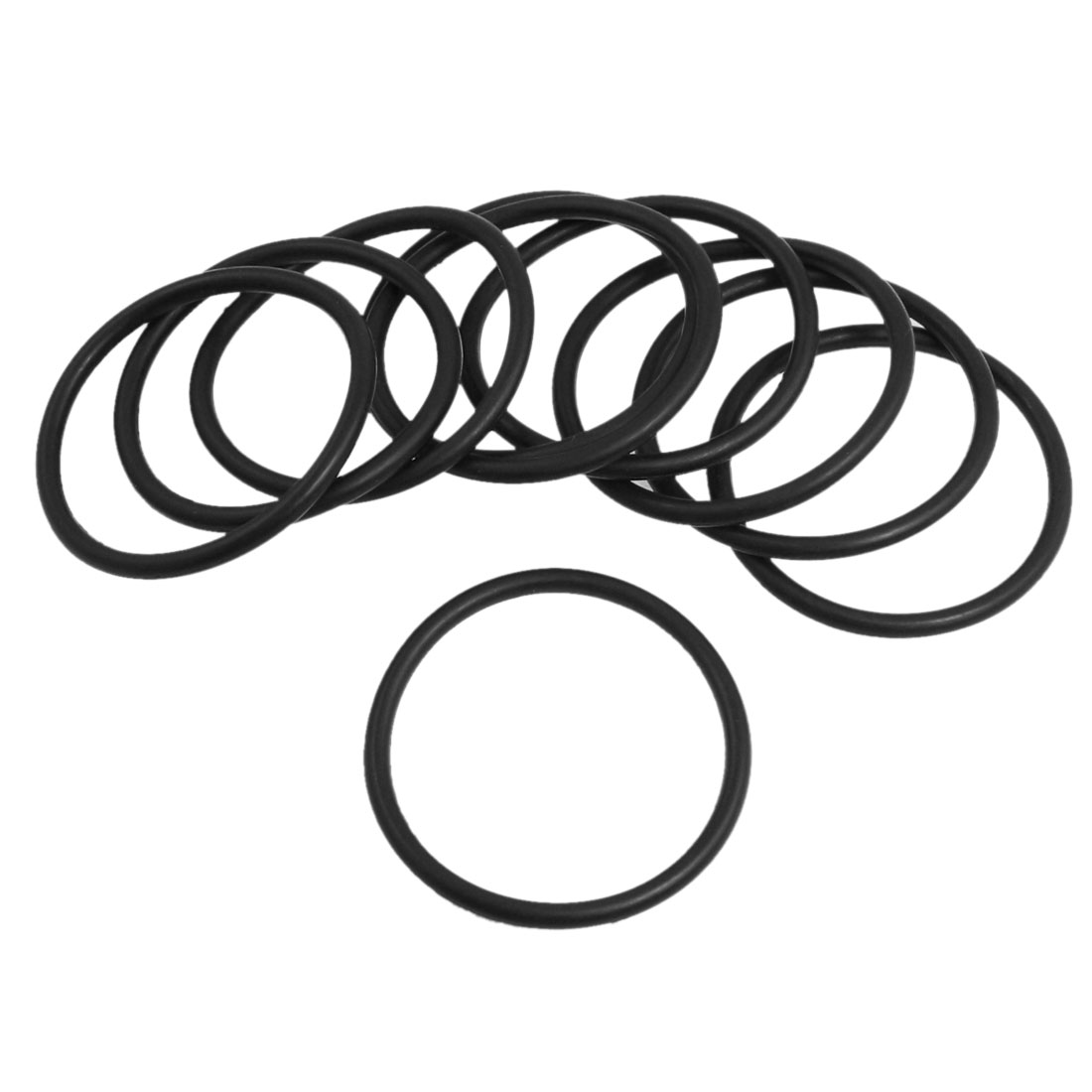 10 Pcs Oil Seal O Rings Black Nitrile Rubber 58mm OD 4mm Thickness