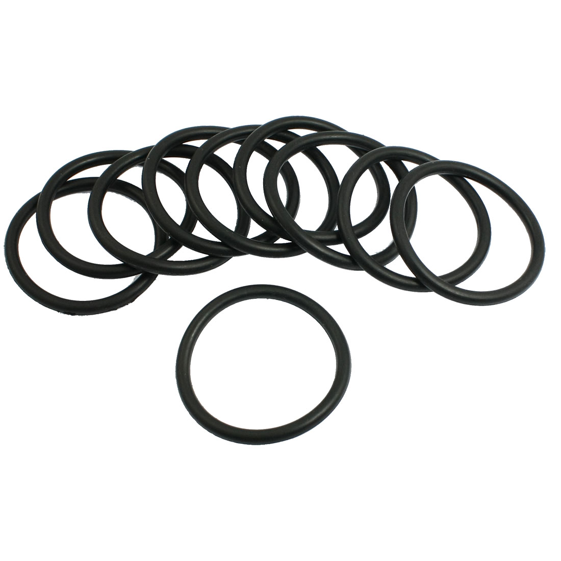 5mm x 58mm Nitrile Rubber O Type Sealing Ring Gasket Grommets Black 10Pcs