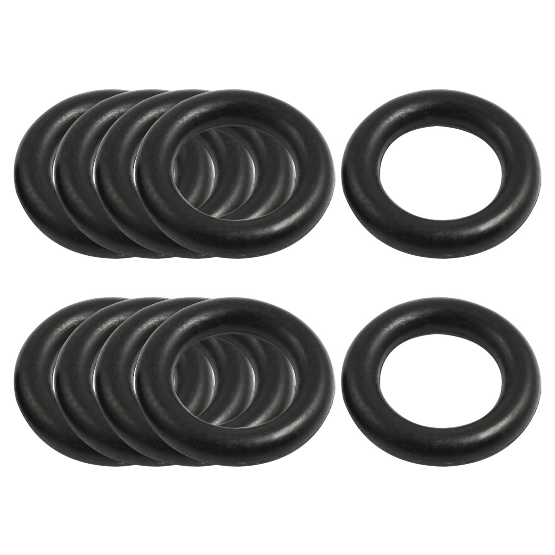 10 Pcs Nitrile Rubber O Type Sealing Ring Gasket Grommets Black 5mm x 26mm
