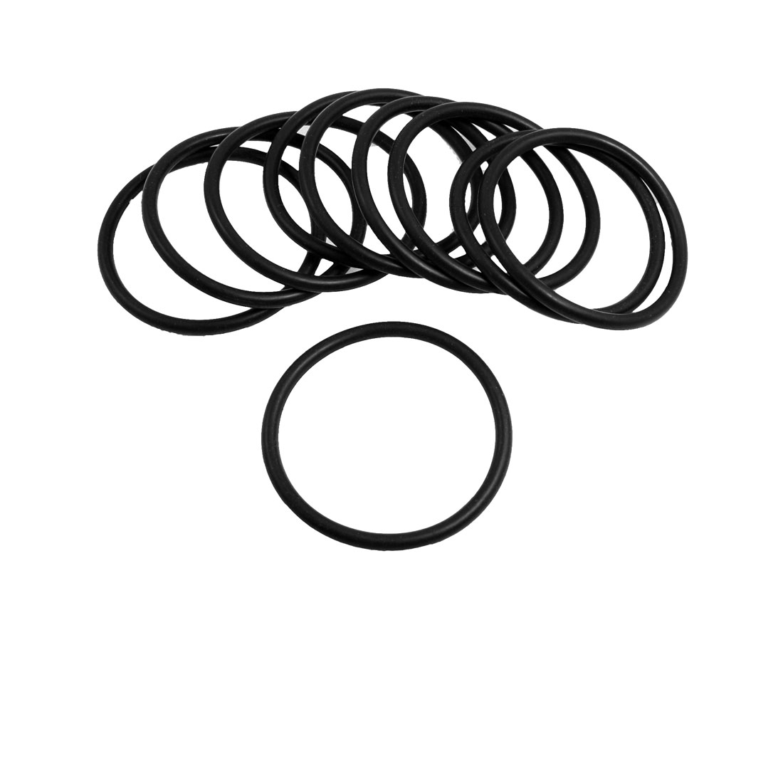 5mm x 72mm Black Nitrile Rubber Sealing O Ring Seal Washer Grommets 10 Pcs