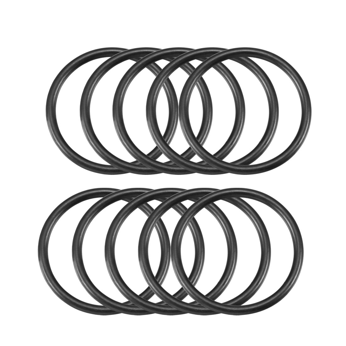 4mm x 52mm Black Nitrile Rubber Sealing O Ring Seal Washer Grommets 10 Pcs