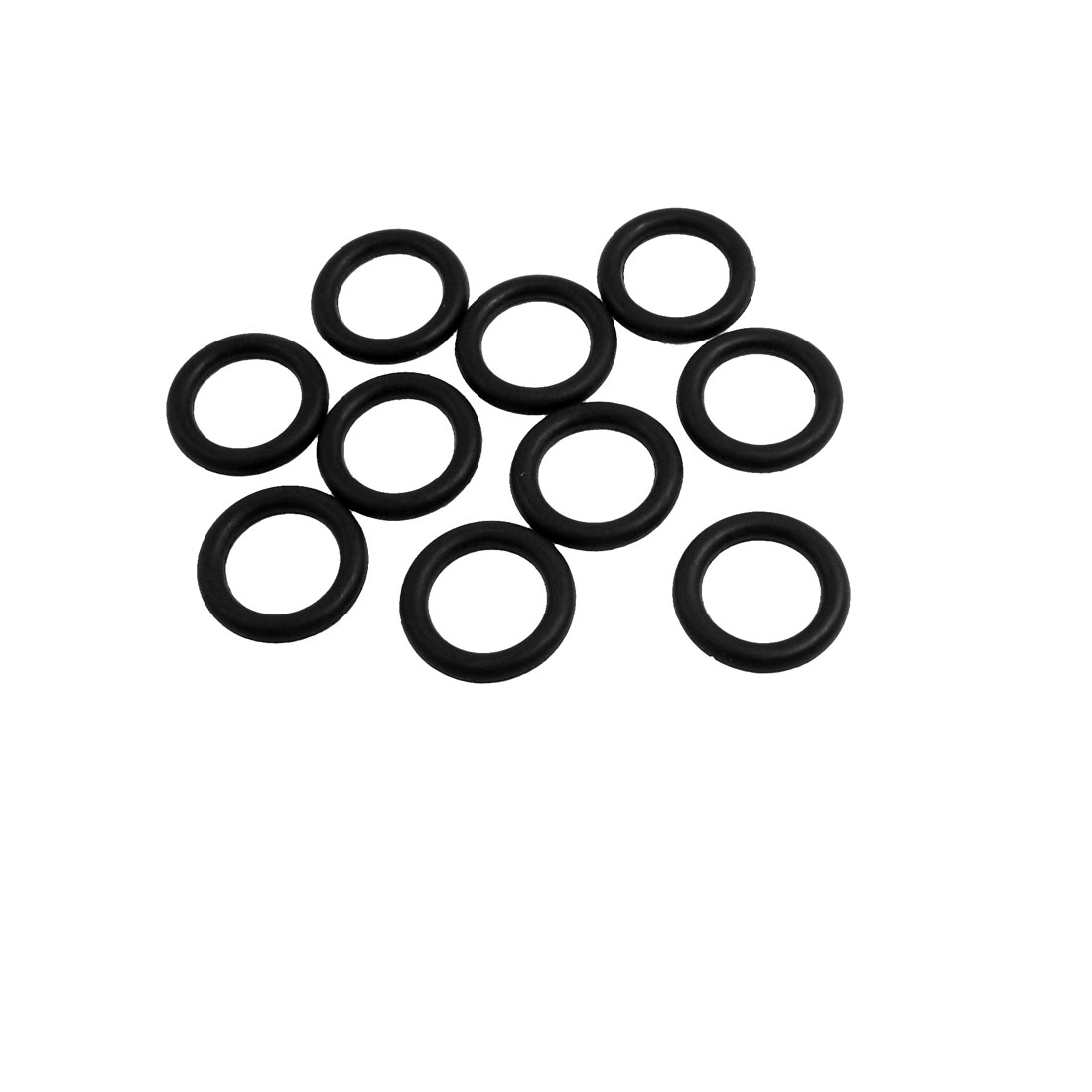10 Pcs Oil Seal O Rings Black Nitrile Rubber 24mm OD 4mm Thickness