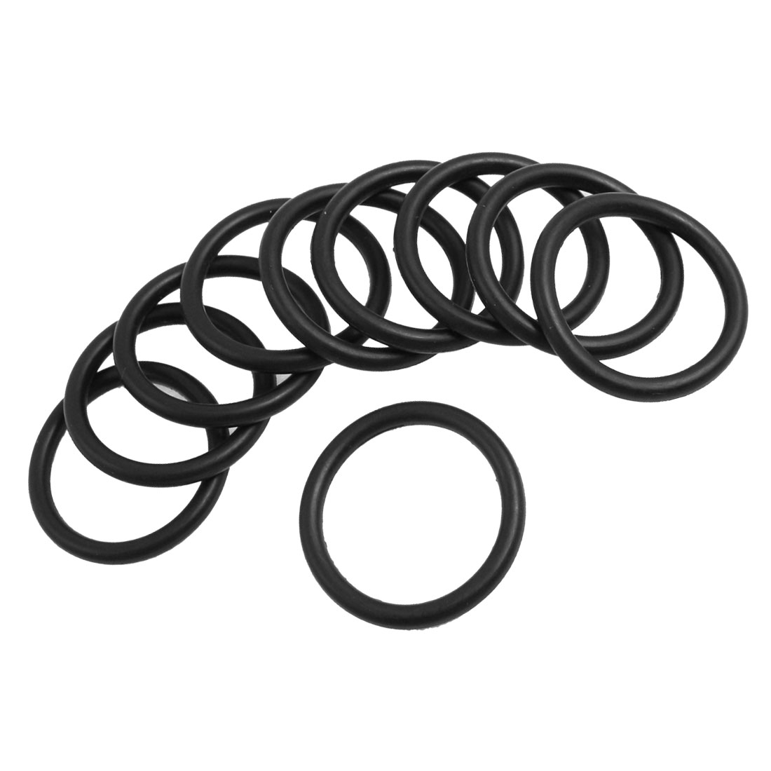 10 Pcs Oil Seal O Rings Black Nitrile Rubber 37mm OD 4mm Thickness